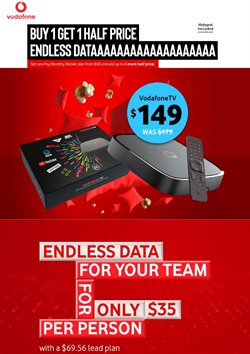 Electronics & Appliances offers in the Vodafone catalogue in Dunedin ( 6 days left )