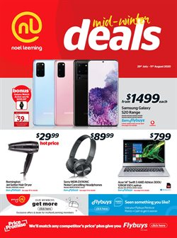 Electronics & Appliances offers in the Noel Leeming catalogue in Palmerston North ( Expires tomorrow )