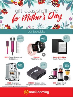 Mother's Day offers in the Noel Leeming catalogue ( Expires tomorrow)