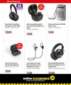 Electronics & Appliances offers in the Noel Leeming catalogue ( 2 days left)