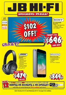 Offers from JB Hi-Fi in the St Lukes special