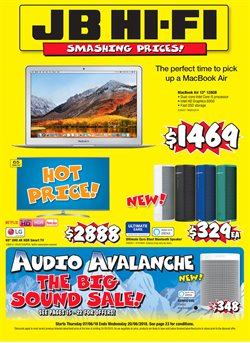 Offers from JB Hi-Fi in the Wellington special