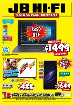 Offers from JB Hi-Fi in the Tauranga special