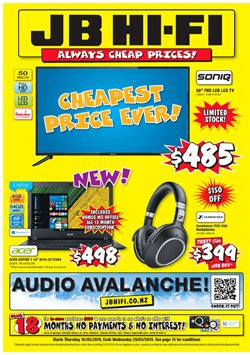 Offers from JB Hi-Fi in the Auckland special