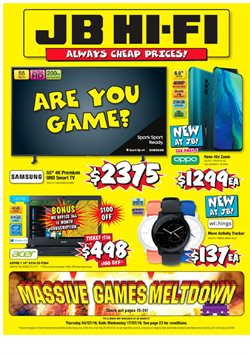 Offers from JB Hi-Fi in the Mount Maunganui special