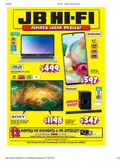 JB Hi-Fi catalogue ( 3 days ago )