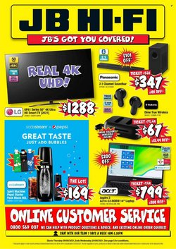Electronics & Appliances offers in the JB Hi-Fi catalogue ( 8 days left)