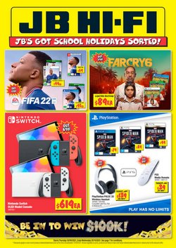 Electronics & Appliances offers in the JB Hi-Fi catalogue ( 6 days left)