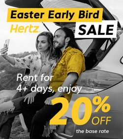 Easter offers in the Hertz catalogue ( More than a month)