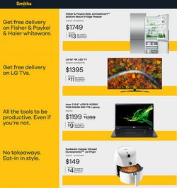 Electronics & Appliances offers in the Smiths City catalogue ( 3 days left)