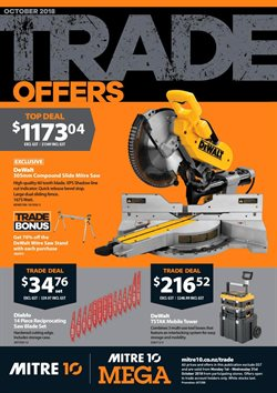 Offers from Mitre 10 in the Richmond special