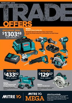 Offers from Mitre 10 in the Whangarei special