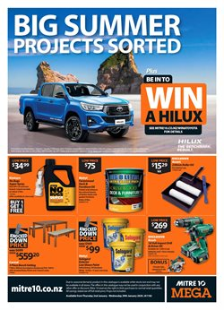 Offers from Mitre 10 in the Tauranga special