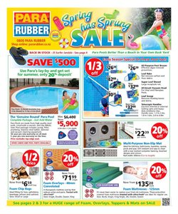 Offers from Para Rubber in the Auckland special