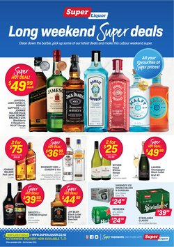 Supermarkets offers in the Super Liquor catalogue ( 6 days left)