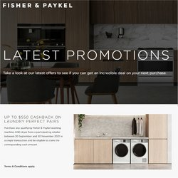 Fisher & Paykel catalogue ( More than a month)