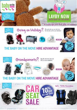 Offers from Baby on the move in the Auckland special