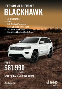Cars, motorcycles & spares offers in the Jeep catalogue in Auckland