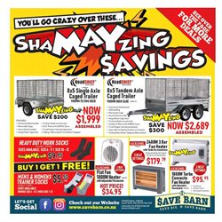 Offers from Save Barn in the Hamilton special