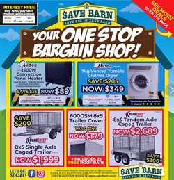 Hardware & Garden offers in the Save Barn catalogue ( 1 day ago )