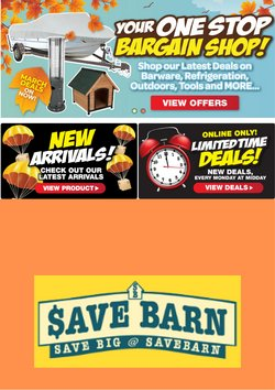 Hardware & Garden offers in the Save Barn catalogue in Auckland ( 24 days left )