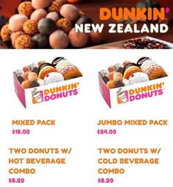 Restaurants offers in the Dunkin Donuts catalogue in Hamilton ( 25 days left )