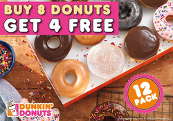 Offers from Dunkin Donuts in the Auckland special
