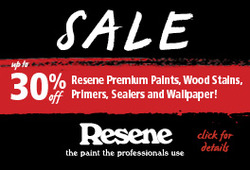 Offers from Resene in the Christchurch special