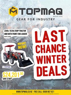 Offers from Topmaq in the Auckland special
