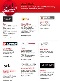 Offers from Dress smart in the Auckland special