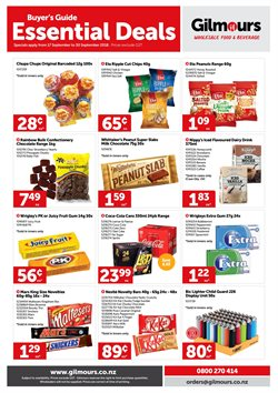 Offers from Gilmours in the Wellington special
