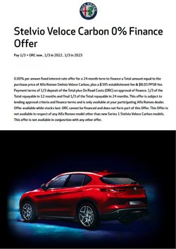 Alfa Romeo offers in the Alfa Romeo catalogue ( 5 days left)