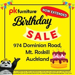 Offers from PK Furniture in the Wellington special