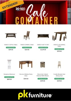 Homeware & Furniture offers in the PK Furniture catalogue in Auckland ( Expires tomorrow )