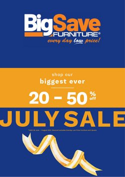 Big Save offers in the Big Save catalogue ( 7 days left)