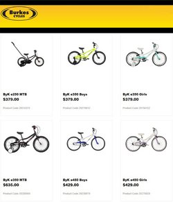 Sport offers in the Burkes Cycles catalogue ( 2 days left)