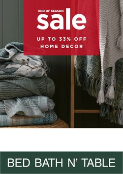 Department Stores offers in the Bed Bath N' Table catalogue ( 3 days left)