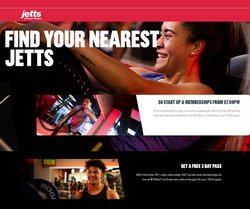 Sport offers in the Jetts Fitness catalogue ( 3 days left)