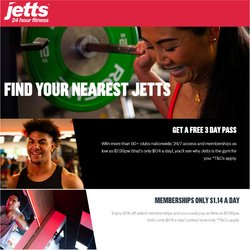 Jetts Fitness offers in the Jetts Fitness catalogue ( 12 days left)