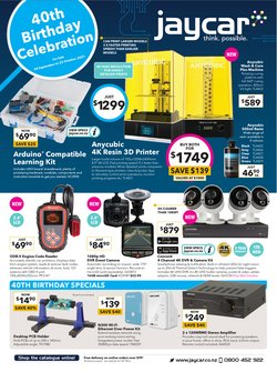 Electronics & Appliances offers in the Jaycar catalogue ( Expires tomorrow)