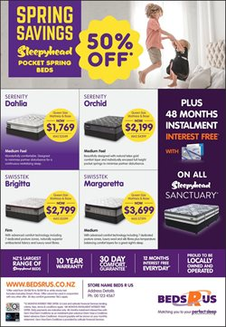Offers from Beds R Us in the Katikati special