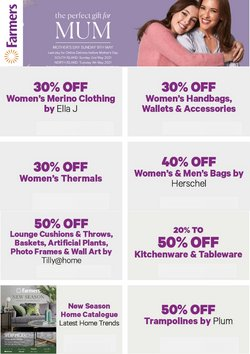 Mother's Day offers in the Farmers catalogue ( Expires tomorrow)