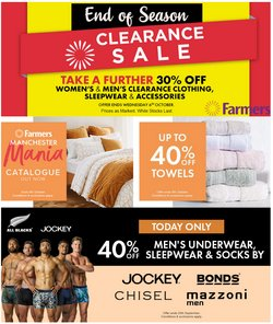 Clothes, Shoes & Accessories offers in the Farmers catalogue ( Expires tomorrow)