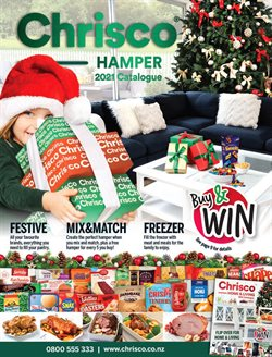 Christmas offers in the Chrisco Hampers catalogue ( More than a month)