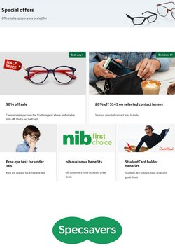 Department Stores offers in the Specsavers catalogue ( 20 days left)