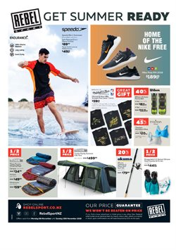 Sport offers in the Rebel Sport catalogue in Auckland