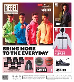 Rebel Sport catalogue in Wellington ( Expired )