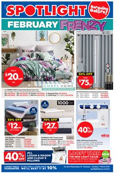 Homeware & Furniture offers in the Spotlight catalogue in Christchurch