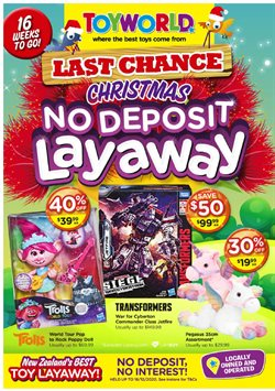 Christmas offers in the Toyworld catalogue ( 8 days left)