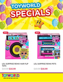 Toyworld offers in the Toyworld catalogue ( Published today)
